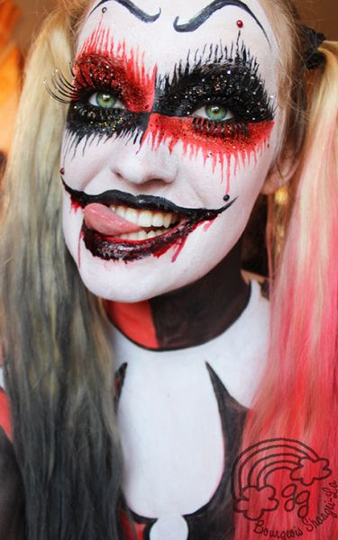 Harley Quinn makeup ideas                                                                                                                                                                                 More