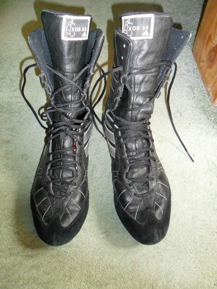 ADIDAS BOXING BOOTS - XOB 036 - BLACK SIZE 11 (LITTLE WEAR) | eBay