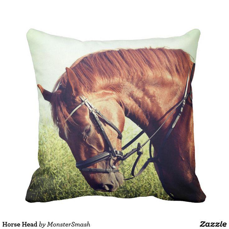 Horse Head Throw Pillow Printed Pillows Pinterest