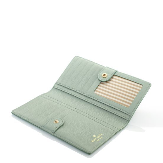 kate spade   checkbook wallets for women - cobble hill stacy    dusty mint EVERYTHING, please.