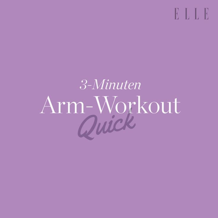 Tight and slim arms: The 3-minute workout without equipment Your arms are … – ELLE auf Youtube