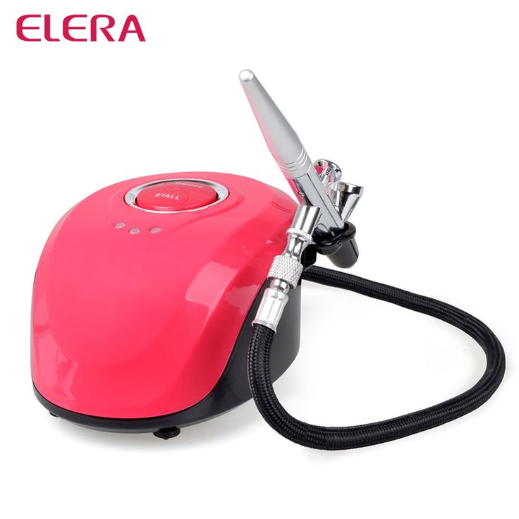 ==> [Free Shipping] Buy Best ELERA Airbrush Kit Compressor Portable Airbrush Tattoo Make Up 3 Speeds Adjustable Tattoo Airbrush For Nail And Cake Painting Online with LOWEST Price | 32788968450