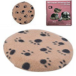 Microwave Pet Heating Pad – Bed Warmer Last 10 Hours of Safe Warmth, 1 Replace Cover Included