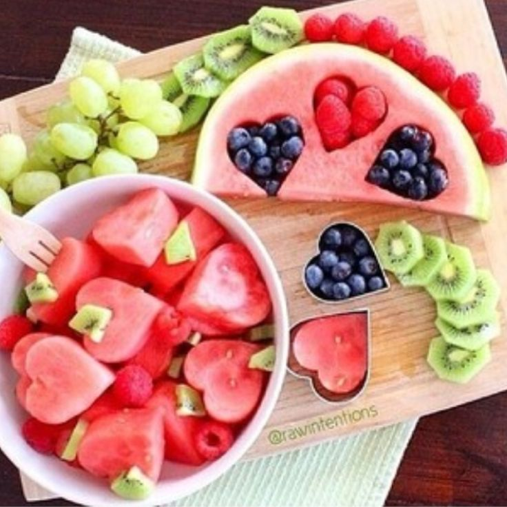 We sure heart this fruity snack display.