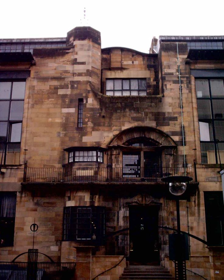Glasgow School of Art - a most amazing building built by Charles Rennie Mackintosh