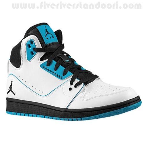 Local Hombres Air Jordan Blancas/Negro/Oscuro Powder Azules ...