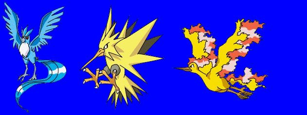 pokemon legendary birds | Butterfree's Pokémon site!