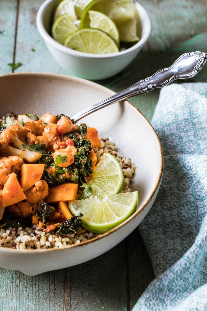 30 Minute Sweet Potato Chickpea Curry   Perfect way to spice up your weeknight.   www.wildeorchard.co.uk