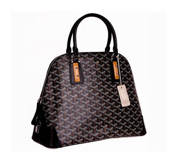 Vendôme.  Outfitted in the classic Goyard canvas and trimmed in leather, the sac Vendôme is highlighted by Goyard's signature popular wood accents. With its rigid, refined structure and an exemplary finish from the hammered nails to the detailed edge strengtheners the Sac Vendôme typifies the entire aesthetic of La Maison Goyard. www.goyard.com