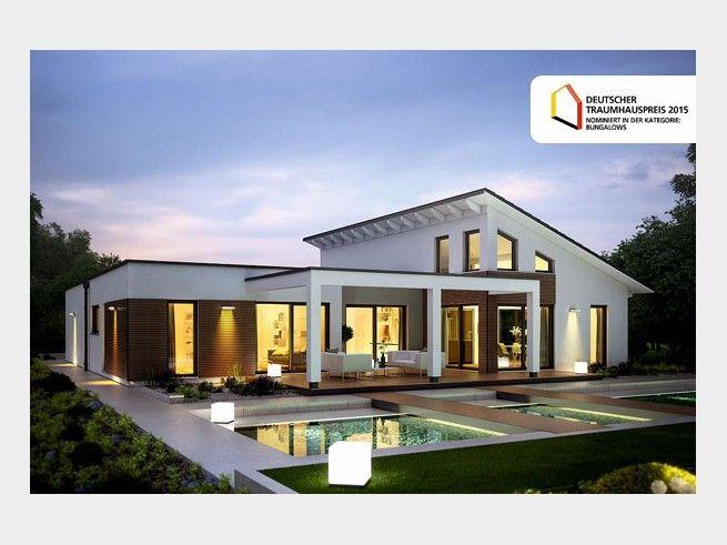 Marseille L - #Einfamilienhaus von RENSCH HAUS GmbH | HausXXL #modern #Pultdach #Bungalow
