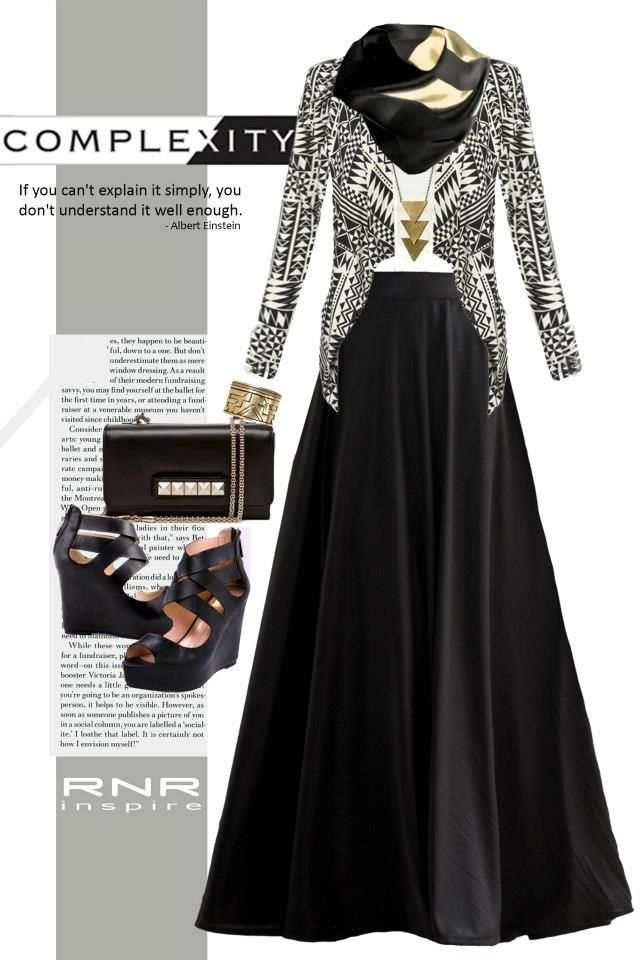 nice.. something that i wud wear.. |black maxi skirt| muslimah|hijab