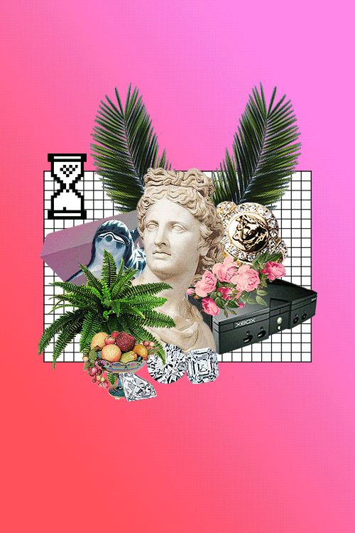 Batuhan P. kawaii internet vaporwave collage