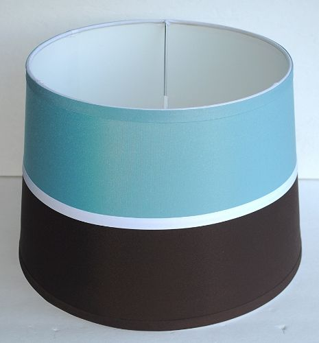 small medium dark brown turquoise blue linen drum lamp shades 13 x 9. Black Bedroom Furniture Sets. Home Design Ideas