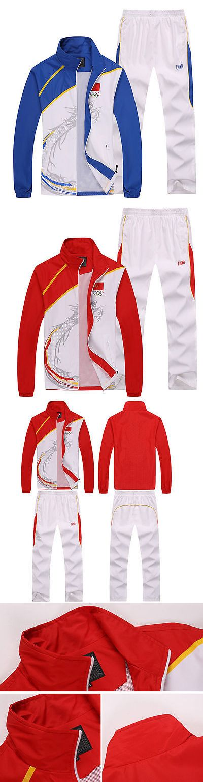 Other Racquet Sport Clothing 70903: Chinese Team Sportswear Embroidery Flag Mens Clothing Jacket Coatsandpants Suits BUY IT NOW ONLY: $49.81