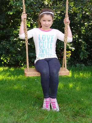 Personalised Swing from Irish oak personalised gifts