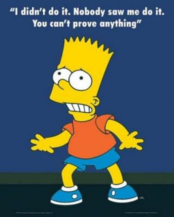 Simpsons Quotes: 01 Bart Simpson I Didn't Do It