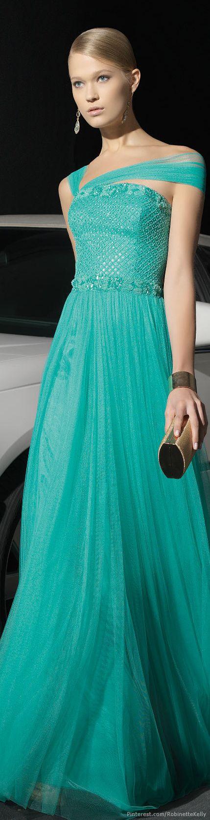 Rosa Clará 2014 #turquoise #fashion