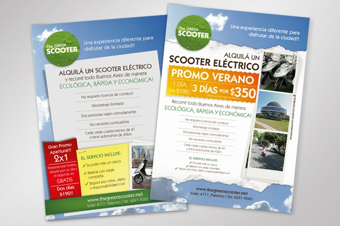 The Green Scooter / Flyer Promo / Print
