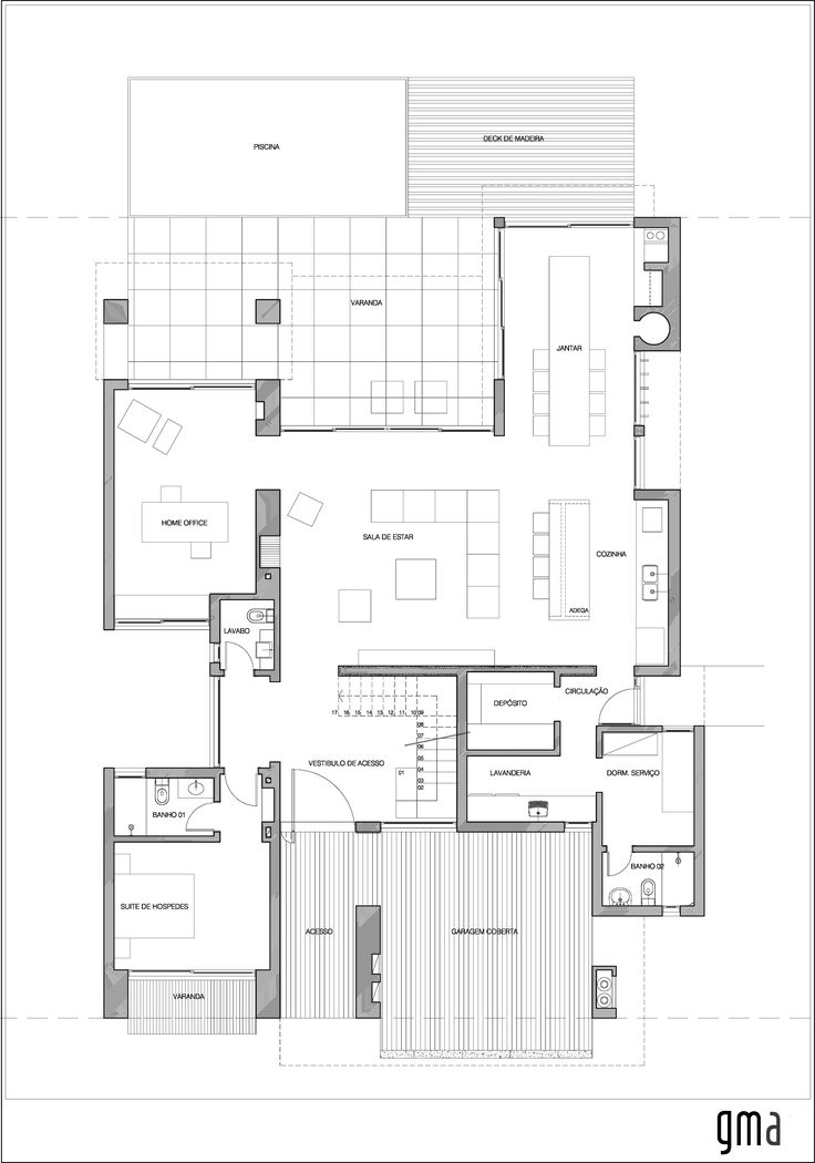 54 best Plan Villa images on Pinterest House studio