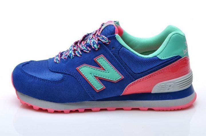 new balance 574 azul marino y rosa