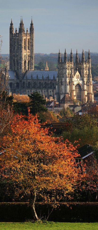 One of my Favorite cathedrals!  I attended service here one random Sunday morning why backpacking in '01. Beautiful!!!  Canterbury Cathedral, England, UK