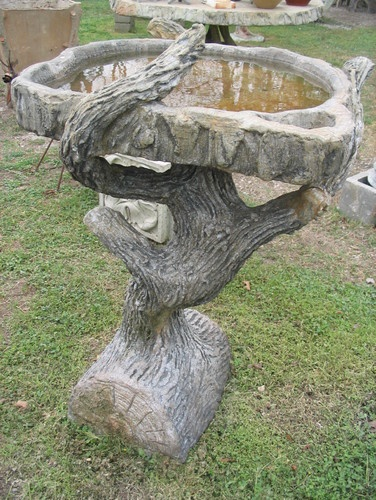Image detail for -Faux Bois birdbath - - bird baths - other metros - by Carlos Cortes