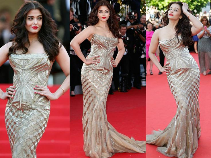 Aishwarya Rai Bachchan at Cannes Film Festival 2014. She is a golden delight in first appearance. http://bit.ly/1o4m4aI