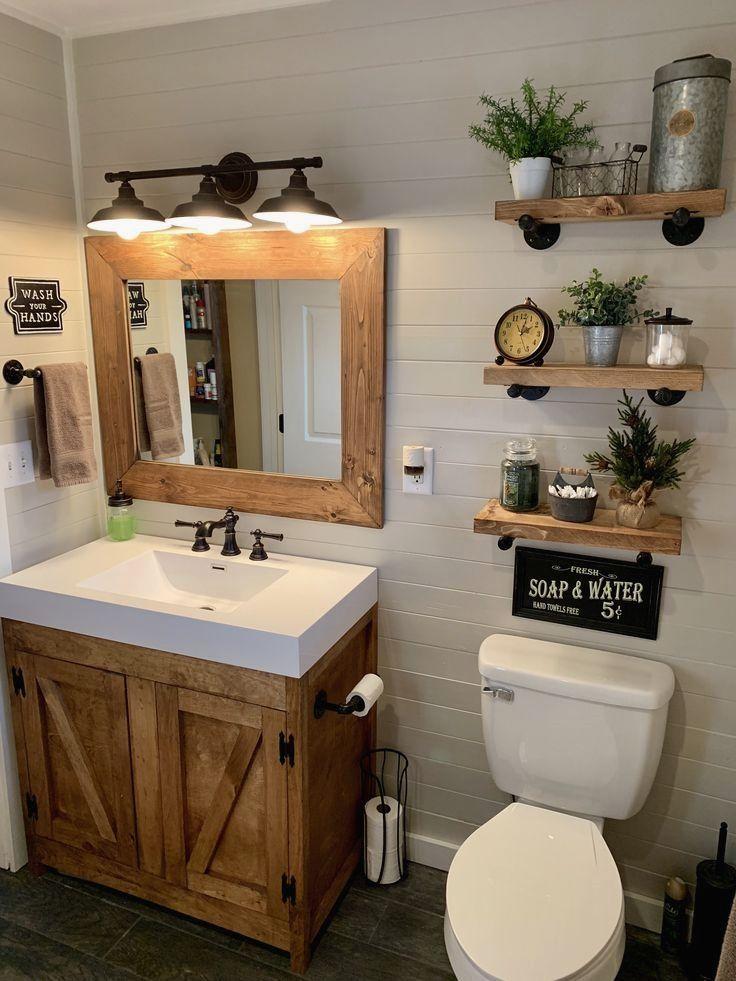 Rustic Bathroom Decoration Small Farmhouse Bathroom Small