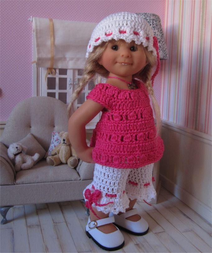 81- FICHE PATRON Tenue Octavia au crochet pour poupée Wichtel : Jeux, jouets par atelier-crochet