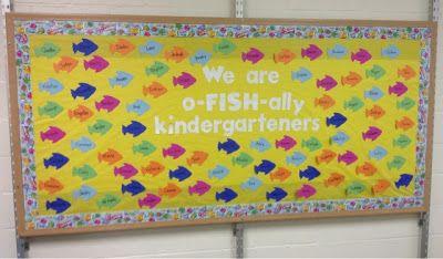 I am o-FISH-ally ready!! Cute bulletin board!