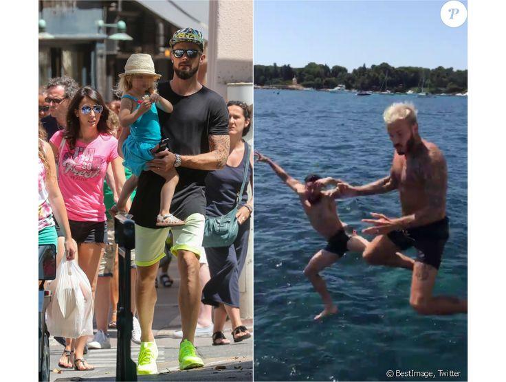 A gauche : Olivier Giroud avec sa femme Jennifer et leur fille Jade à…