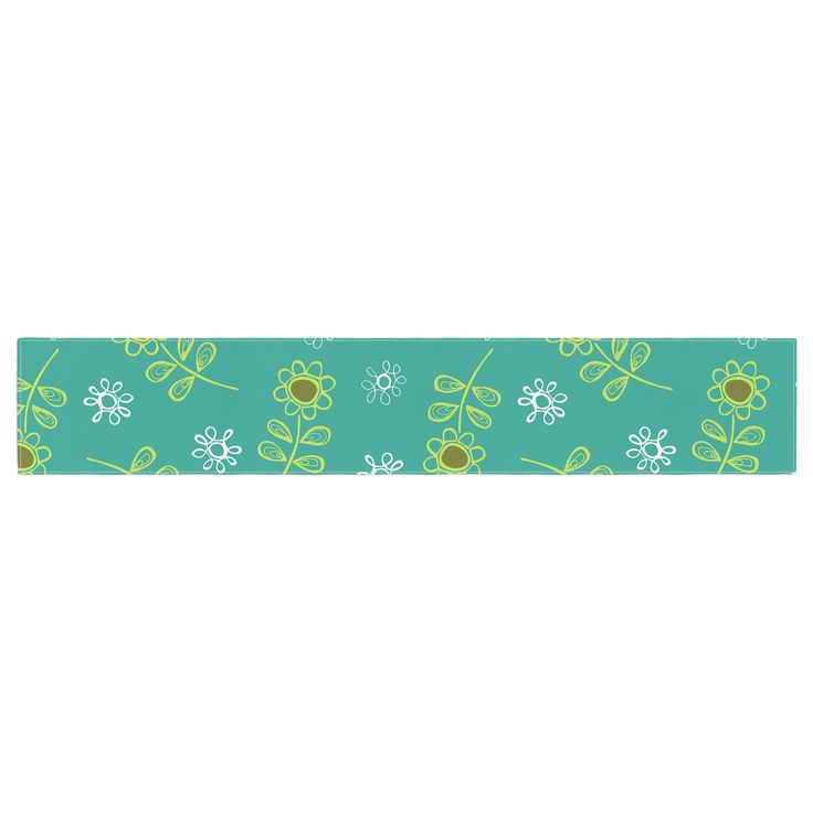 "Holly Helgeson ""Ditsy Daisy"" Teal Table Runner"