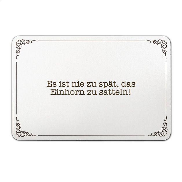 Türschild - Einhorn, Einhörner, Unicorn, Fant... von panda-spruchreif | fashn.de: Mode