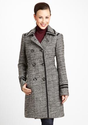 IVANKA TRUMP Double-Breasted Tweed Wool Coat | Fashion and styles I ... Ivanka Trump