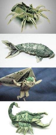 Or Fold Your Fortune Into A Masterwork of Money Origami | 10 Crazy Hobbies You Could Take Up If You Won TheLottery