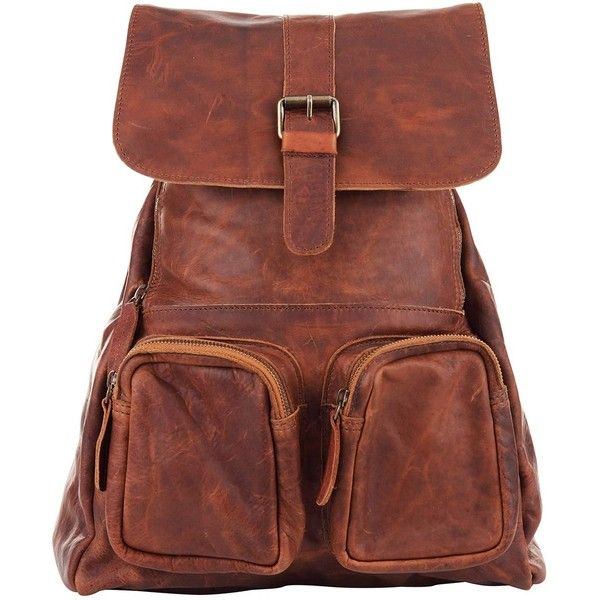 MAHI Leather - Leather Roma Backpack/Rucksack Womens in Vintage Brown ($115) ❤ liked on Polyvore featuring bags, backpacks, laptop backpack, day pack backpack, brown leather backpack, genuine leather backpack and laptop rucksack