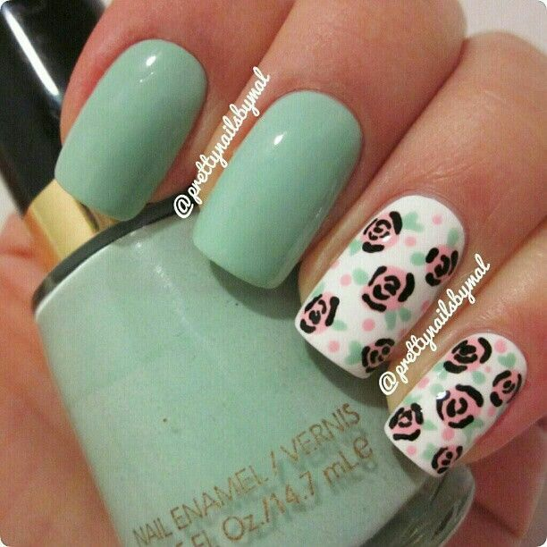 The 18 best Nails Floral images on Pinterest | Cute nails, Nail ...