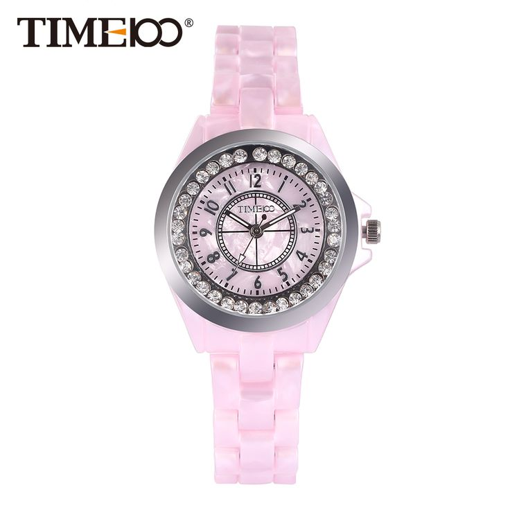 awesome New Time100 Elegance Watches Women Quartz Watches Simulated Pink Ceramics Casual Ladies Wrist Watch Colck relogio feminino