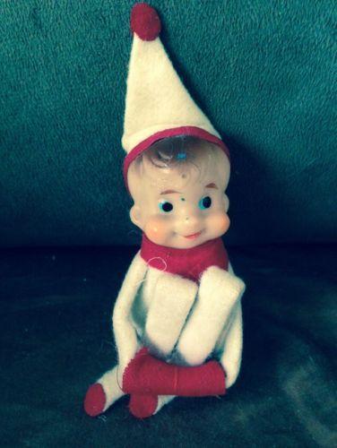 Vintage Elve Baby Face Pixie Knee Hugger Christmas Ornament | eBay