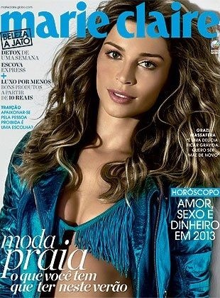 Grazielli Massafera - Marie Claire Magazine Cover [Brazil] (January 2013)