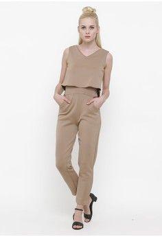Wanita > Pakaian > Playsuits & Jumpsuits > Jumpsuits > Brown Sugar Jumpsuit > Shop at Banana