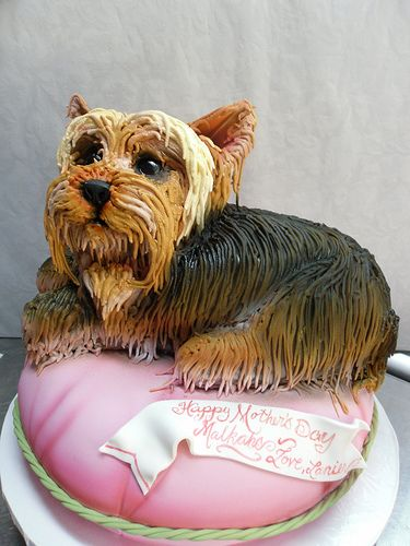 Terrier Dog Shaped Cakes
