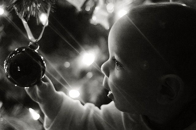 So need to get a photo like this! christmas wonder, baby and decoration