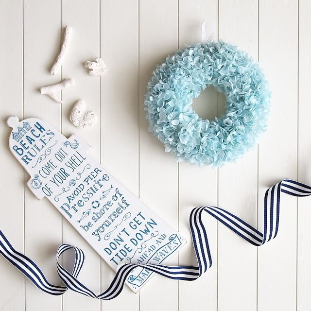 Baby blue wreath