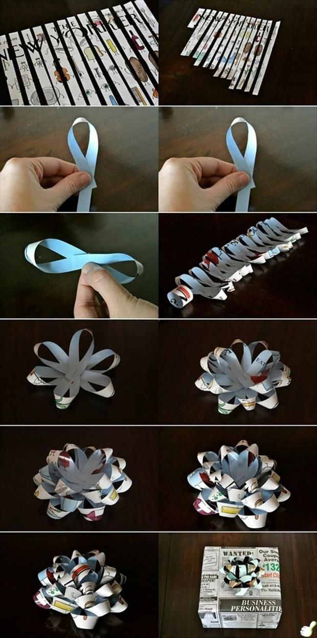 Recycle old magazines into wrapping and ribbons ~ Dump A Day Simple Ideas That Are Borderline Crafty