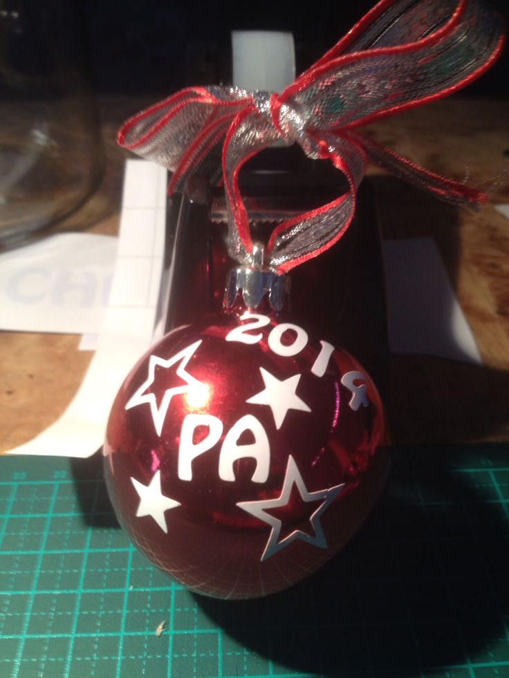 $8 Christmas bauble, available at www.facebook.com/brightenupyourworld