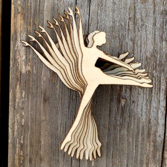 10 x Ballerina Silhouette in a Arabesque Pose Wooden by UKInfinite