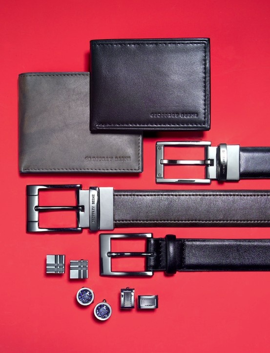 Gifts for Dad: For the Dad who holds it all together GEOFFERY BEENE wallets, belts and cufflinks BUY NOW!