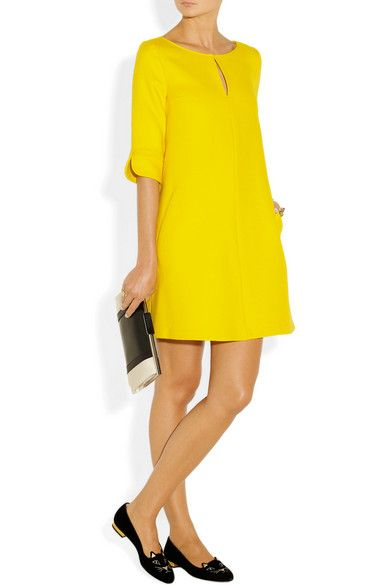 PAUL & JOE Rikita wool-blend twill tunic dress