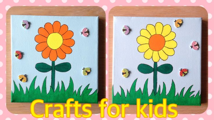 Haal de lente alvast in huis met deze vrolijke schilderijtjes!   De houten lieveheersbeestjes zorgen voor een leuk 3D effect bij deze vrolijk gekleurde bloemen!